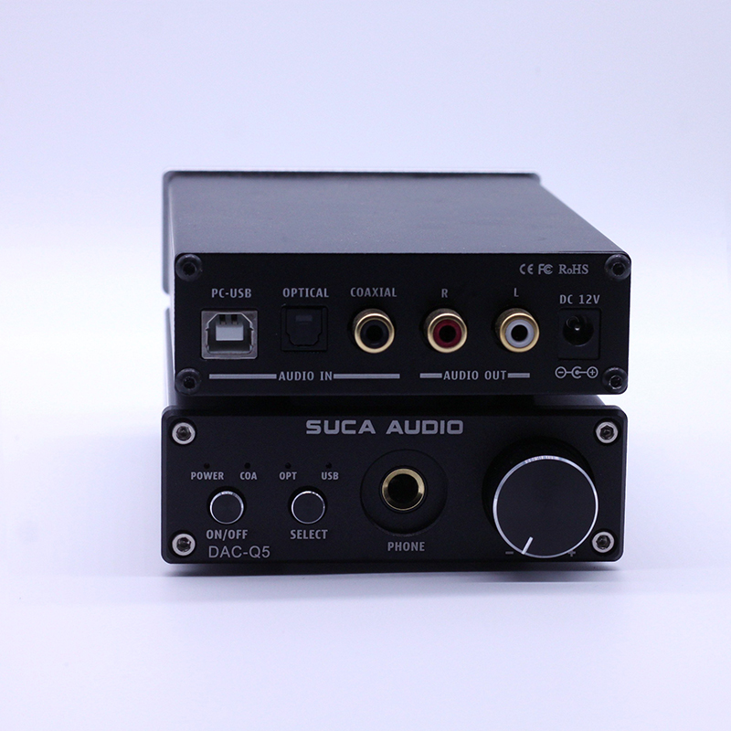 SUCA Audio DAC Q5 HiFi Optical Coaxial USB Headphone Digital Audio Amplifier DAC Decoder DAC Q5