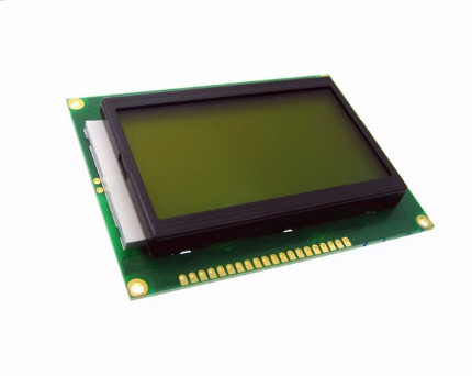 HAILANGNIAO 1pcs/lot 128X64 128*64 DOTS LCD module 5V yellow/green screen 12864 LCD with backlight ST7920 Parallel port 0 96 inch yellow blue dual color oled display 12864 lcd screen module spi iic 3 3 5v interface