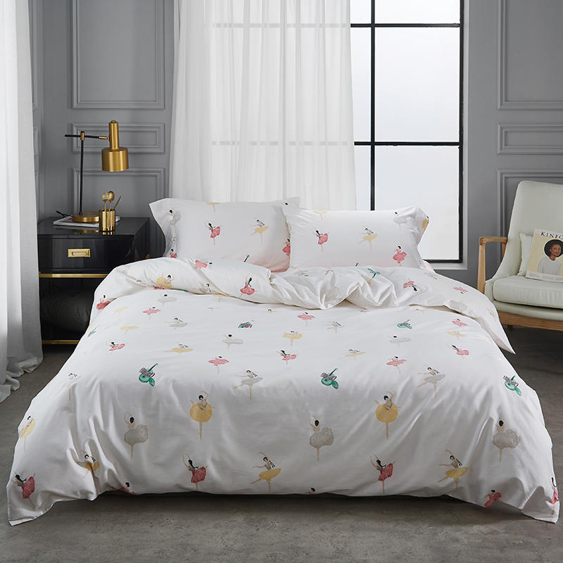 Bedding-Set Bed-Sheet Floral-Leaves King Duvet/quile-Cover Queen-Size Egyptian Cotton