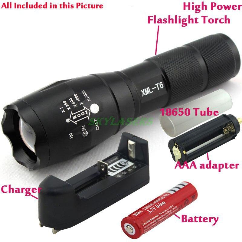 E17 LED lampe de Poche 18650 zoom torche étanche lampes de poche XM-L T6 3800LM 5 mode led Zoomables lumière Pour 3x AAA ou 3.7 v Batterie