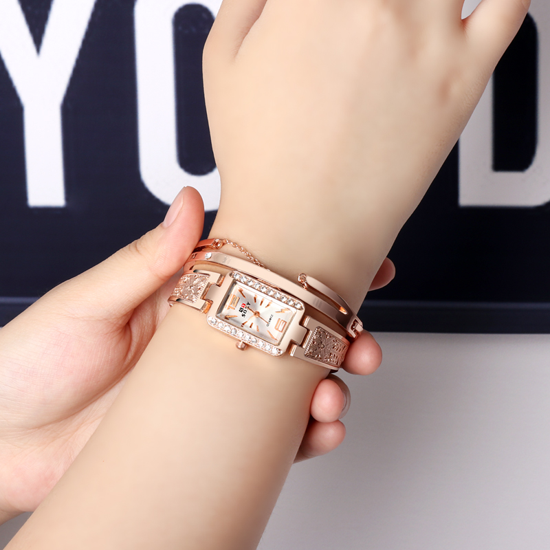 цены 2018 bracelet watches rose gold women's watches luxury ladies watch women watches clock montre femme bayan kol saati reloj mujer
