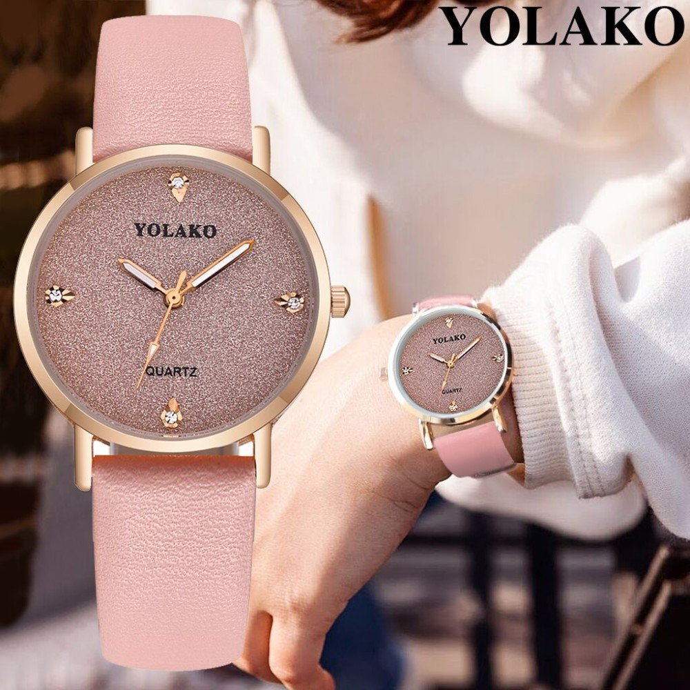 YOLAKO Women's Watch Fashion Luxury Leather Starry Sky Watch Ladies Watch Women Reloj Mujer Women Wrist Watches Relogio Feminino
