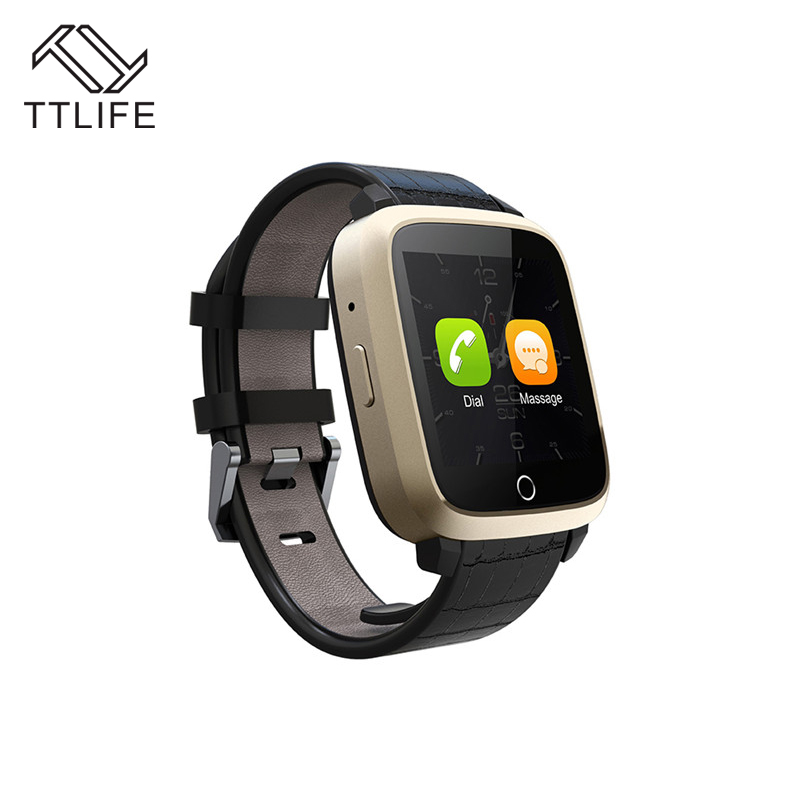 TTLIFE Bluetooth 4.0 Smart Watch U11S 1G RAM 8G Memory ROM MTK6580 Quad Core WIFI GPS Heart Rate Monitor Android 5.1 Smart Watch