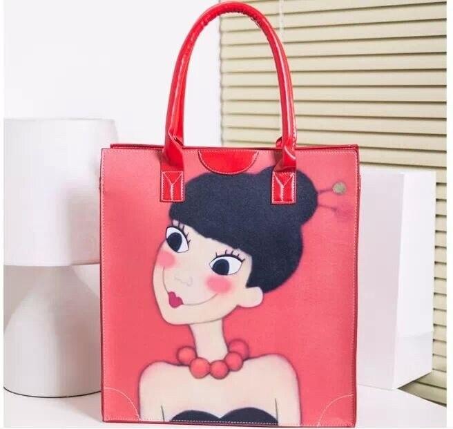 US $49 0 |Korean ellie kim cartoon girl tote one shoulder backpack-in  Top-Handle Bags from Luggage & Bags on Aliexpress com | Alibaba Group