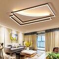 Сделай Сам кофе белая отделка прямоугольные современные светодиодные потолочные лампы для гостиной спальни кабинет потолочные светильник...