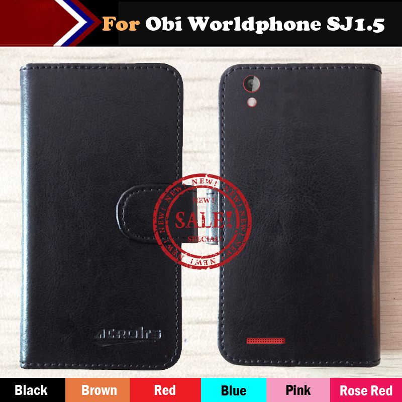 Hot!!In Stock Obi Worldphone SJ1.5 Case 6 Colors Luxury Leather Exclusive For Phone Cover+Tracking