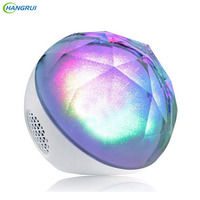 HANGRUI Crystal Ball Bluetooth Speaker Wireless Loudspeaker LED Changeable Music Player Support TF Card With Remote