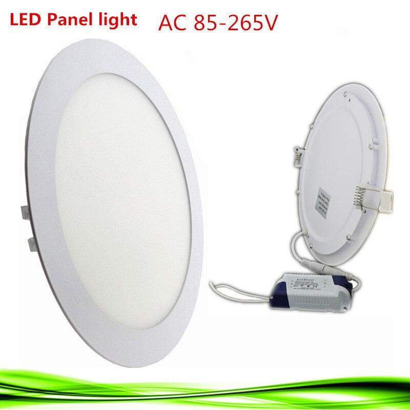 10x ультра-тонкий светодиодный Панель лампа светильник 6 Вт 9 Вт 12 Вт 15 Вт 18 Вт 24 вт лампада круглый светодиодный Потолочные встраиваемые свет ...