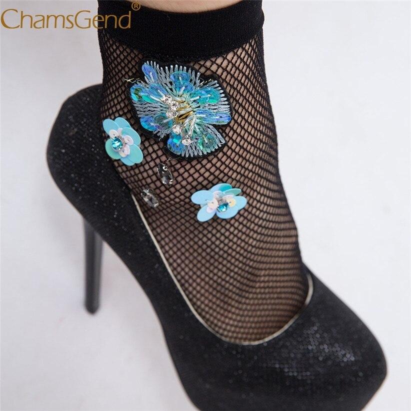 Chamsgend Hot Women Sexy Flowers Mesh Fishnet Socks 80319