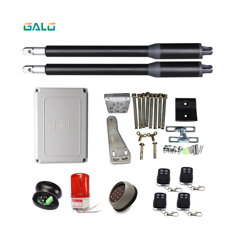 GALO Linear Actuator DC Worm Gear Automatic Swing Gate Opener photocells lamp push button gsm operator