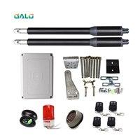 GALO линейный привод постоянного тока червь Шестерни автоматические распашные ворот (фотоэлементы, лампа, кнопка, gsm оператора опционально) о