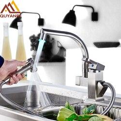 Küche Mixer LED-Licht Waschbecken Wasserhahn Messing Gebürstet Nickel Torneira Tap Küche Armaturen Heiß Kalt Deck Montiert Bad Mischbatterie