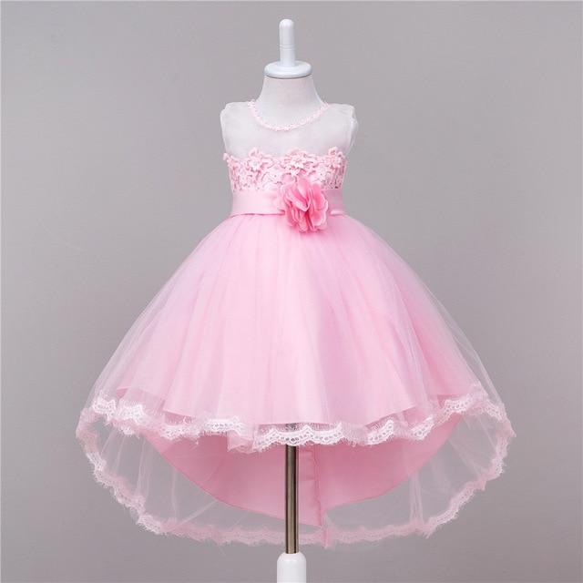 8d49162f08764 Enfants fille queue robe enfants fille arc gaze de mariage ou parti costume  robe bébé fille