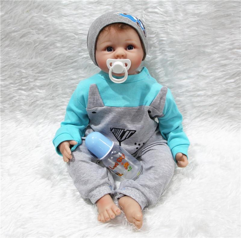 22 Quot Bebe Doll Reborn Menino Realistic Silicone Reborn