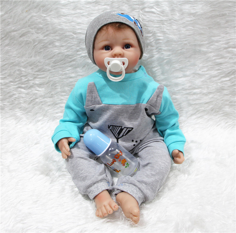 22 Bebe Doll Reborn Menino Realistic Silicone Reborn Babies Dolls Toys Soft Touch Kids Birthday