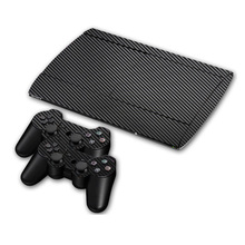 Carbon Fibre Vinyl Skin Sticker Voor Sony PS3 Super Slim 4000 Console En 2 Gamepad Controller Skins Cover Controle Huid