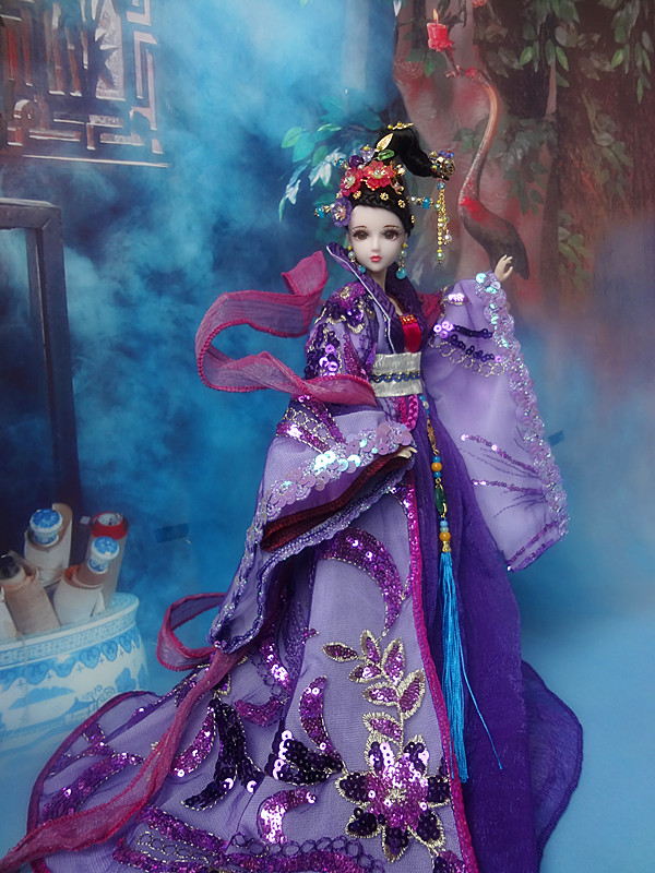 Gratis Shopping 32cm high-end kinesisk Qing Dynasty Princess Dolls - Dockor och tillbehör - Foto 1