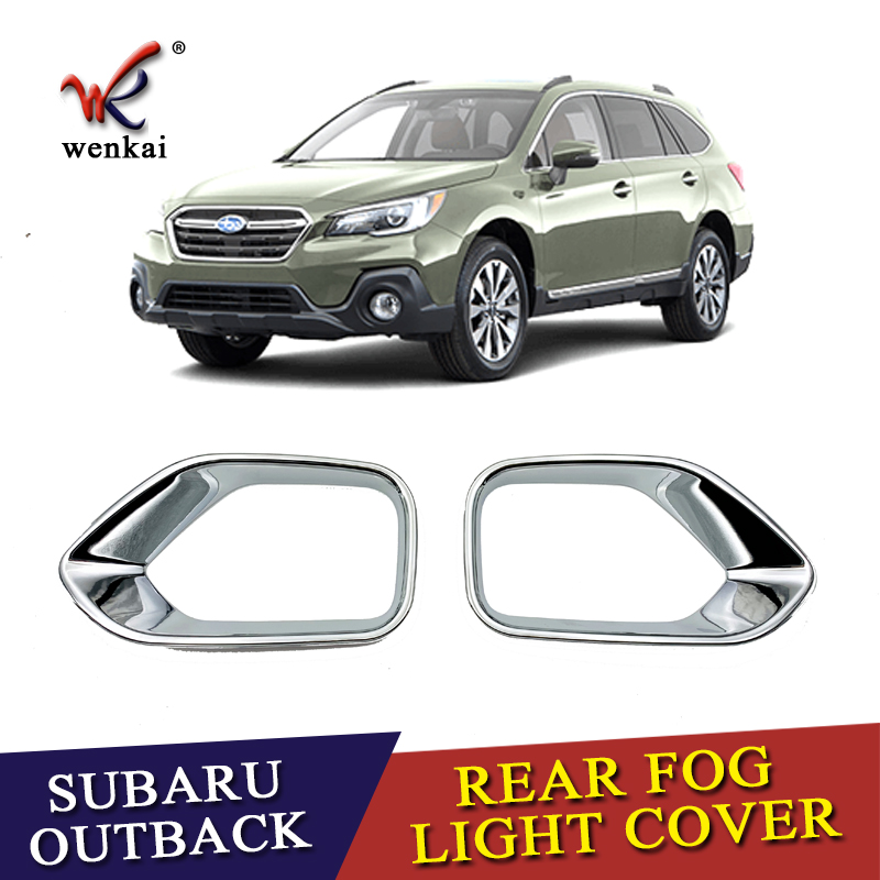 US $20 88 |For Subaru Outback 2015 2019 Exterior Refit Accessories ABS  Chrome Tail Fog Lamp Rear Foglight Cover Trim Decorative Frame-in Chromium