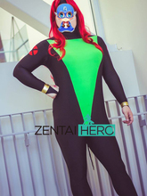 Free Shipping DHL Custom Made X-men Black Green Jean Grey Custom Superhero Costume For 2016 Halloween XM1130