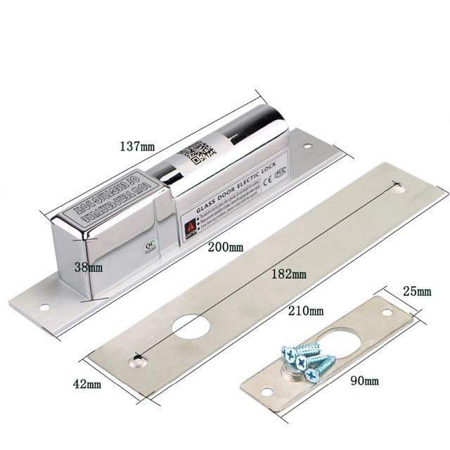 DC 12 V Gota Parafuso Elétrico Da Porta Bloqueio Bloqueio Eletrônico Indução Magnética Auto Trava para o Sistema de Controle de Acesso de Segurança F1351D