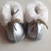 Bebek İlk Yürüteçler Sıcak Deri yürüteç bebek ayakkabı Yenidoğan Ayakkabı Kürk bebek çizmeler Boy Genius Kız Bebek Bebek Ayakkabı