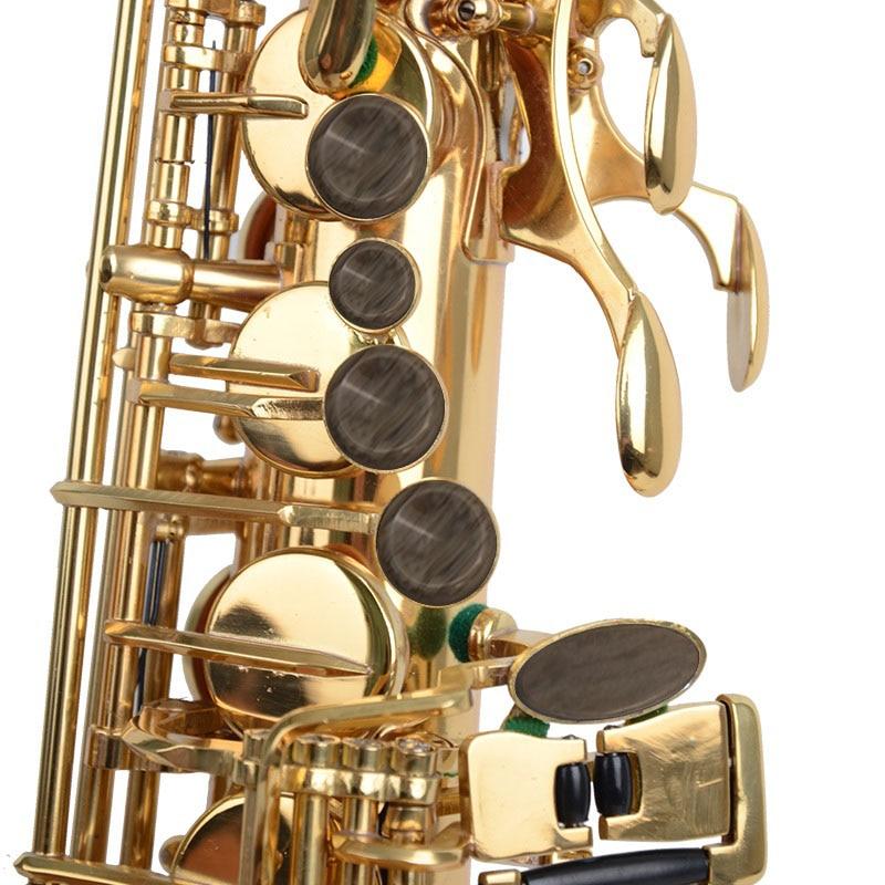 ADDFOO 9Pcs/Set Alto Tenor Soprano Saxophone Sax Key Buttons Blue & Khaki Colors Inlays Accessories