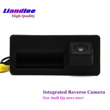 Liandlee Car Rear View Backup Parking Camera  / Trunk Handle Integrated HD CCD  For Audi Q3 2011-2017 Rearview Reverse Camera цена и фото