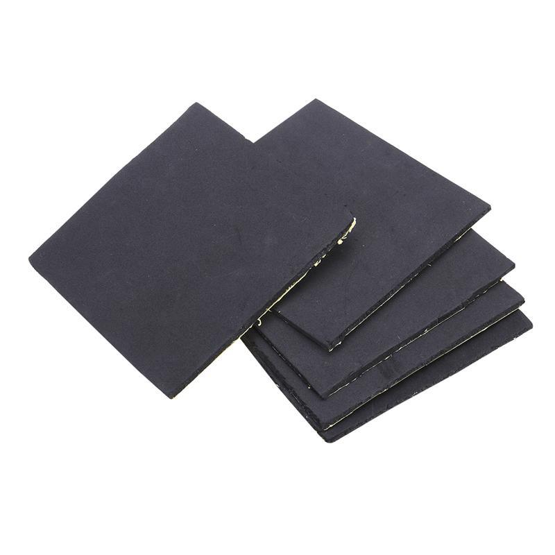 5 Pcs Sponge Neoprene Rubber Foam Anti-Vibration Pads Vibration Isolation Mats 150x150x5mm (Black)