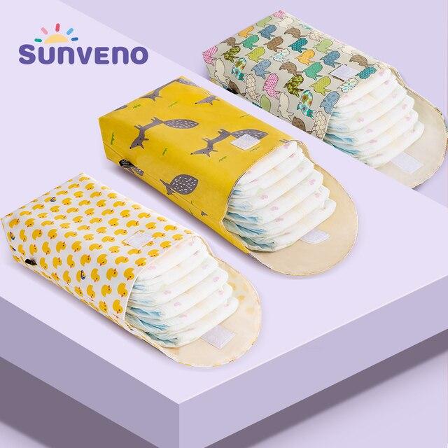 Sunveno חיתול תינוק רב תכליתי ארגונית לשימוש חוזר עמיד למים אופנה הדפסי רטוב/יבש תיק אחסון מומיה תיק נסיעות חיתול תיק
