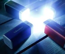 Vakaumus V40 8000 мАч 18650 Мощность Bank Dual USB Портативный Зарядное устройство со светодиодным фонариком для iPhone/Samsung/Tablet /внешний Батарея
