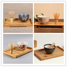 4 Estilo 3 unids/set Café Juegos de Té Ceremonia Del Té Matcha Té De Cerámica Tazón Matcha Batidor de Bambú Cuchara De Té Japonés Herramienta