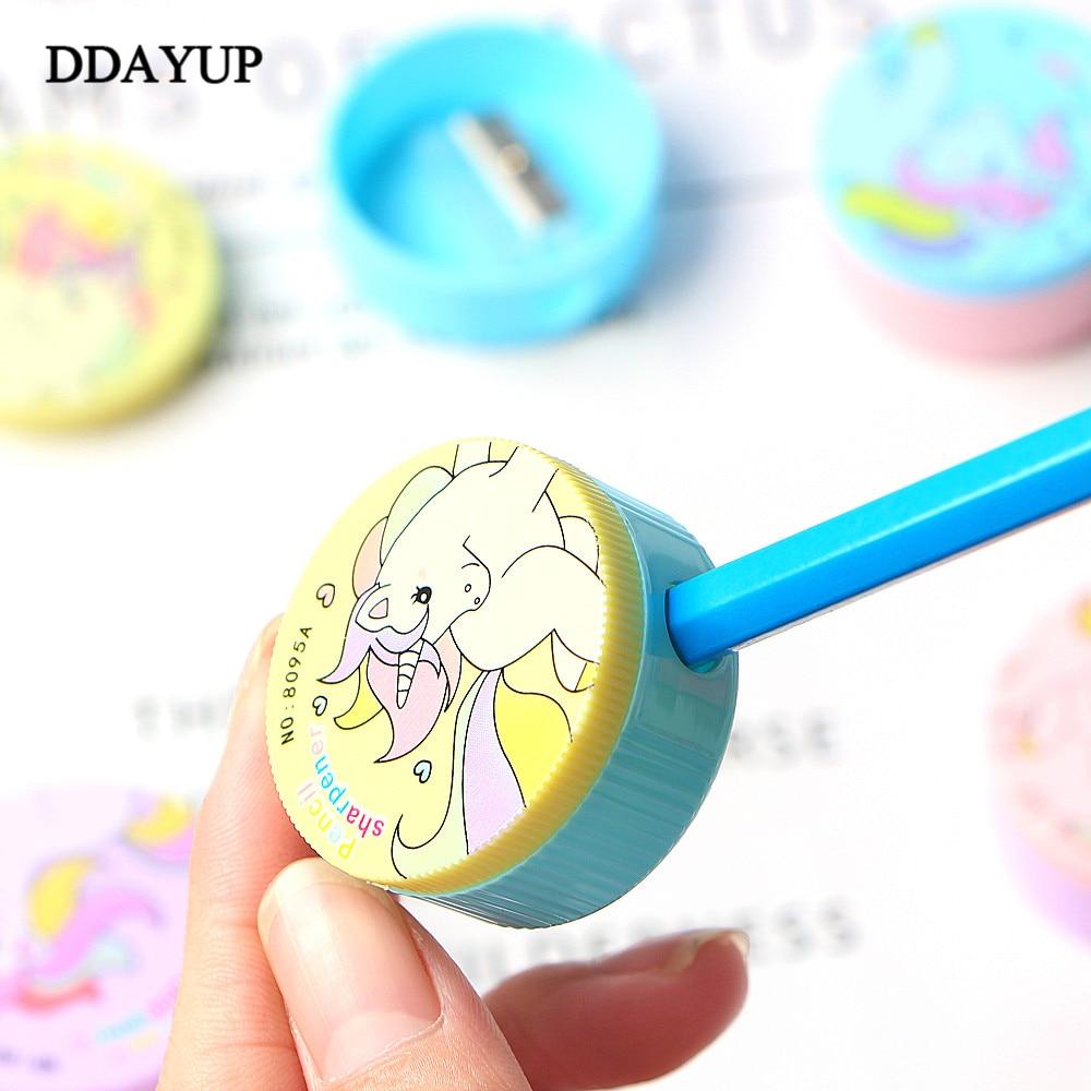 2Pcs Cute Kawaii Cartoon Unicorn Plastic Pencil Sharpener For Kids Gifts School Supplies Manual Pencil Sharpener Stationery