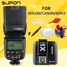 Godox TT600 s 2.4 Г Беспроводной 1/8000 s/Speedlite + X1T-C/N/S 2.4 Г Беспроводная Вспышка TTL Триггера для Canon Nikon Sony