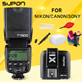 Godox tt600 s 2.4g wireless 1/8000 s/speedlite + x1t-c/n/s 2.4g flash inalámbrico ttl disparador para canon nikon sony cámara kit