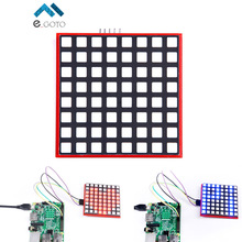 LED Full Color Dot Matrix RGB LED Display Screen Board 8*8 Dot Matrix Module for Raspberry Pi 3/2/B+ 8×8 RPI-RGB-LED-Matrix