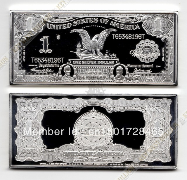 2013, 1 TROY OZ 1899 SERIES $1 BLACK EAGLE SILVER CERTIFICATE .999 ...