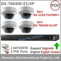 CCTV Kits Hikvision Network Video Recorder DS 7604NI E1 4P 4CH 4ports POE Hikvision DS 2CD1731FWD