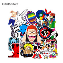 50pcs Car styling Funny Cool Sticker Bomb Waterproof Graffiti Doodle Sticker Skateboard Decal Toy Sticker Hellaflush
