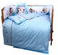 Promoción! 10 unids Mickey Mouse del bebé cuna ropa de cama del lecho ropa de cama de algodón decoración ( bumpers + colchón + almohada + funda nórdica )
