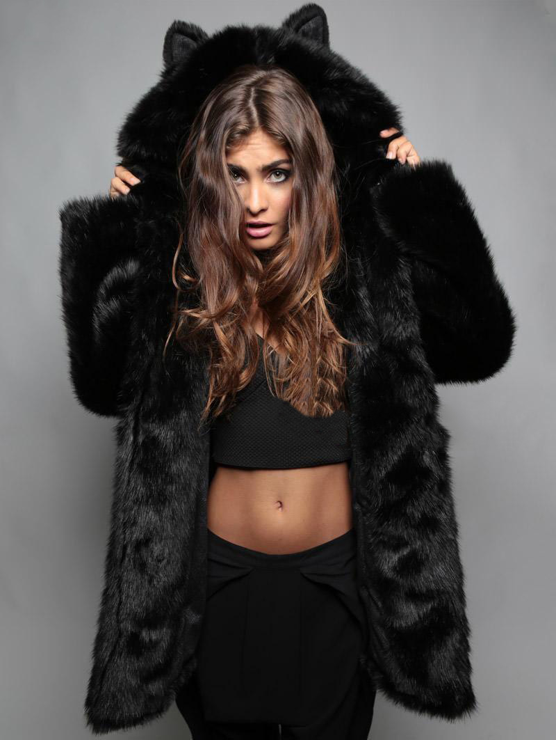 Popular Faux Fur Jacket with Hood-Buy Cheap Faux Fur Jacket with ...