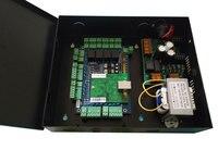 TCP/IP четыре двери один способ контроля доступа панель с блок питания с батареей Funtion Поддержка wiegand reader sn: L04_set