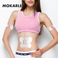 Electric Pulse Smart abdominal Muscle Stimulation Body Massager Butterfly Design Slimming Exerciser Training Device for women
