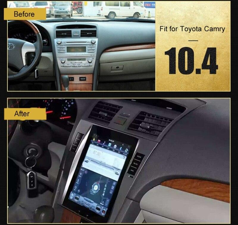 Otojeta вертикальный Большой Экран 10.4 дюйма 4 ядра Android 6.0 2 Гб оперативной памяти 32 Гб ПЗУ автомобильный DVD GPS Радио для Toyota Camry стерео головного у...