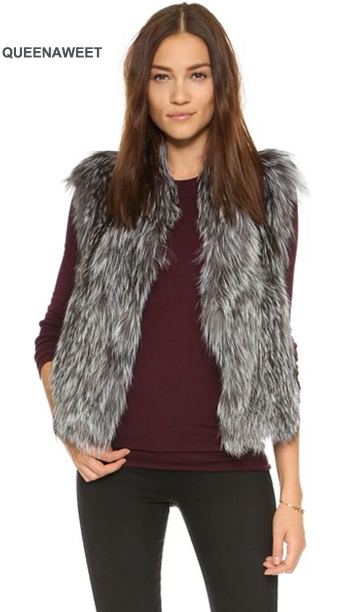 New 100/% Real Genuine Knitted Farms Rex Rabbit Fur Waistcoat Vest Gilet Outwear