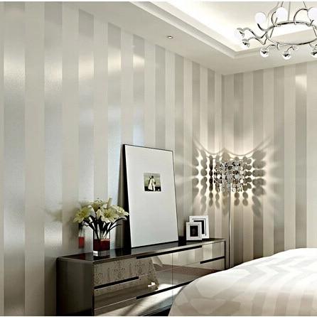 Comprar moderno plata y blanco a rayas for Papel pintado blanco y plata