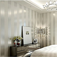 Fabric Wallpaper Free Shipping White Striped Wallpaper Paper Roll For Wall Papel De Parede Wallpaper Murals
