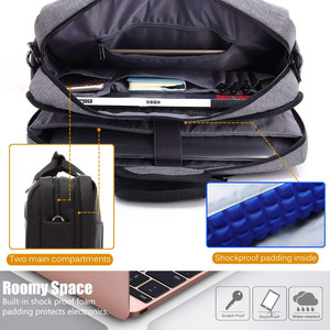 Image 5 - حقيبة كمبيوتر محمول كبيرة لماك بوك اير برو 17.3 ، حقيبة كمبيوتر محمول 15.6 بوصة ، حقيبة سفر للرجال ، حقيبة كتف ، حقائب ساعي البريد