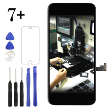 цена на 5 PCS/LOT for iPhone 7 plus lcd with touch Good quality DHL free shipping with earmesh and cameral holder