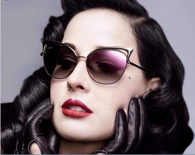 Luxury Cat Eye Sunglasses Women Brand Designer Retro Vintage Sun Glasses For Women Female Ladies Sunglass Mirror Lunettes Oculos (1)