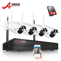ANRAN Plug And Play P2P 4CH 960P NVR Wireless Array IR Outdoor Day Night Video 1